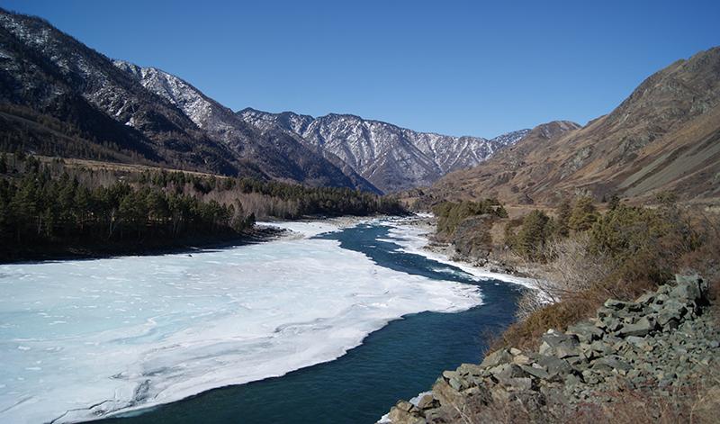 Река Катунь. Март